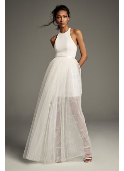 Long Separates Casual Wedding Dress - White by Vera Wang