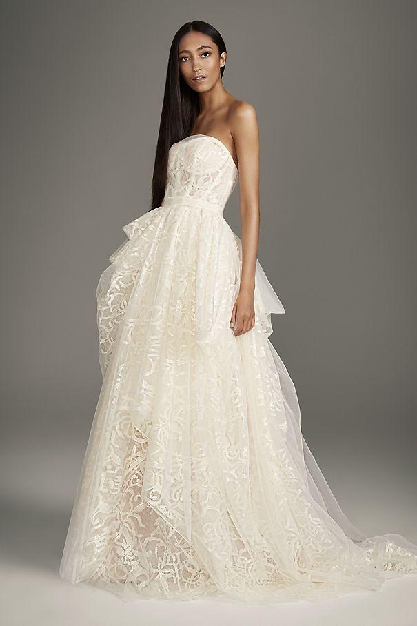 Stencil Sequin Lightweight Ball Gown Wedding Dress