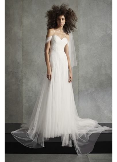 White by Vera Wang Soft Net Halter Wedding - Gorgeous versatility is the secret power of this