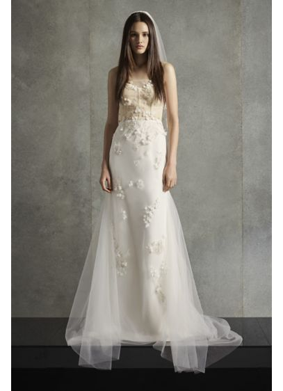 Long Sheath Modern Wedding Dress - White by Vera Wang