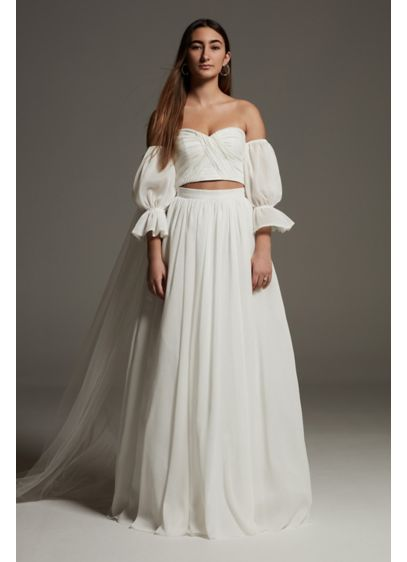 Long Separates Boho Wedding Dress - White by Vera Wang