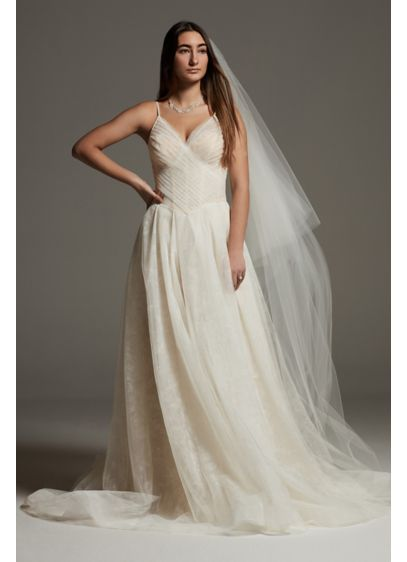 White by Vera Wang Rose Print Tulle Wedding - Inspired by turn of the century English garden