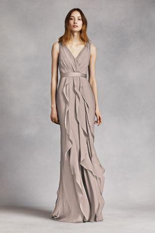 Soft & Flowy Long Bridesmaid Dress