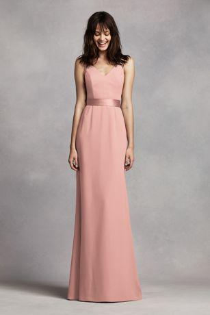 64a4a73b0a50f4 Soft   Flowy White by Vera Wang Long Bridesmaid Dress