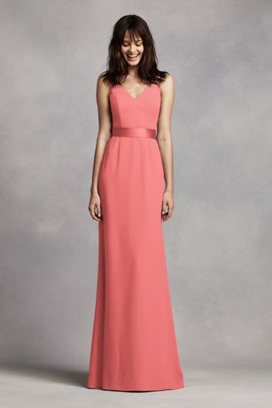 0d78eaad4a947 Soft   Flowy White by Vera Wang Long Bridesmaid Dress