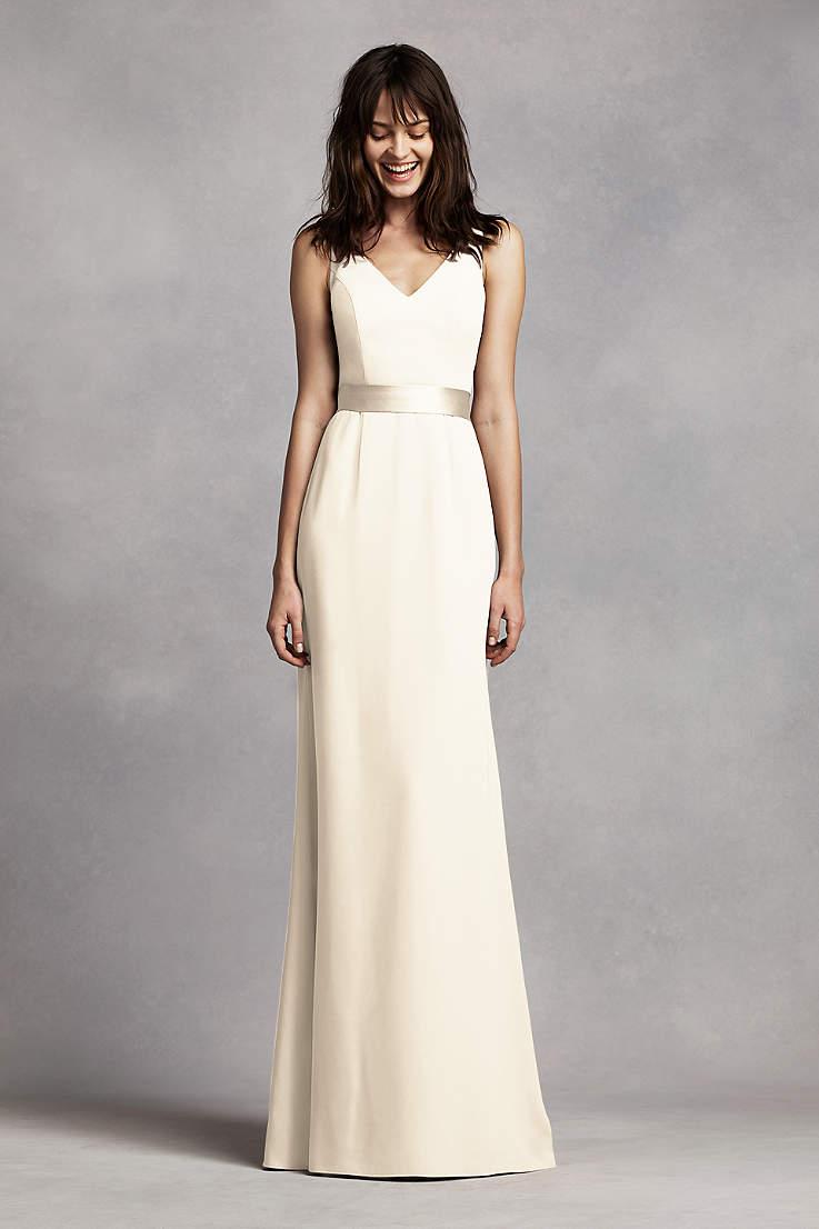 077162eebf9 Soft   Flowy White by Vera Wang Long Bridesmaid Dress