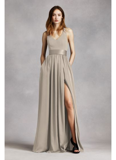 Long Sheath Glamorous Wedding Dress - White by Vera Wang