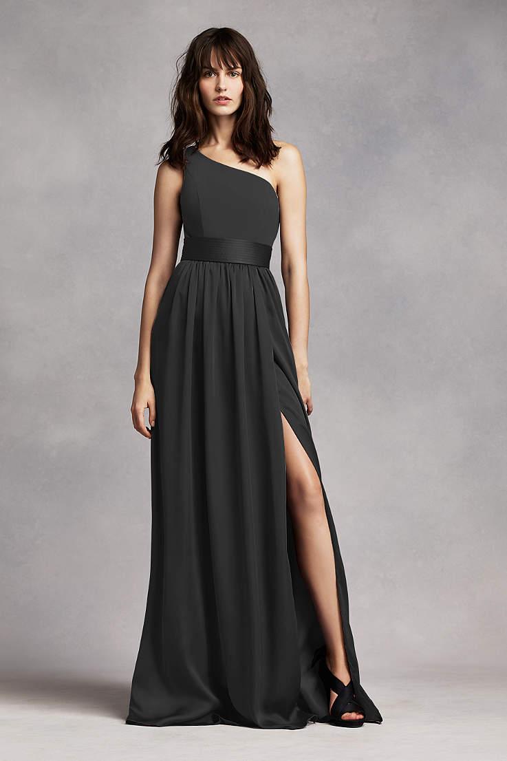f47b01311fe8e Soft & Flowy White by Vera Wang Long Bridesmaid Dress