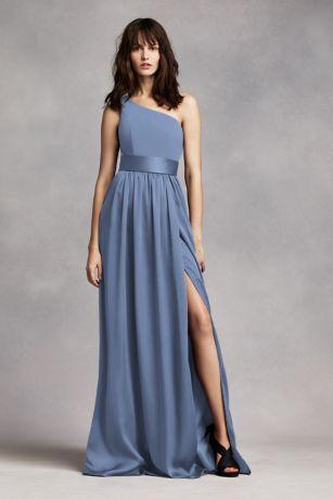 ca5290f402cba Steel Blue Bridesmaid Dresses | Davids Bridal