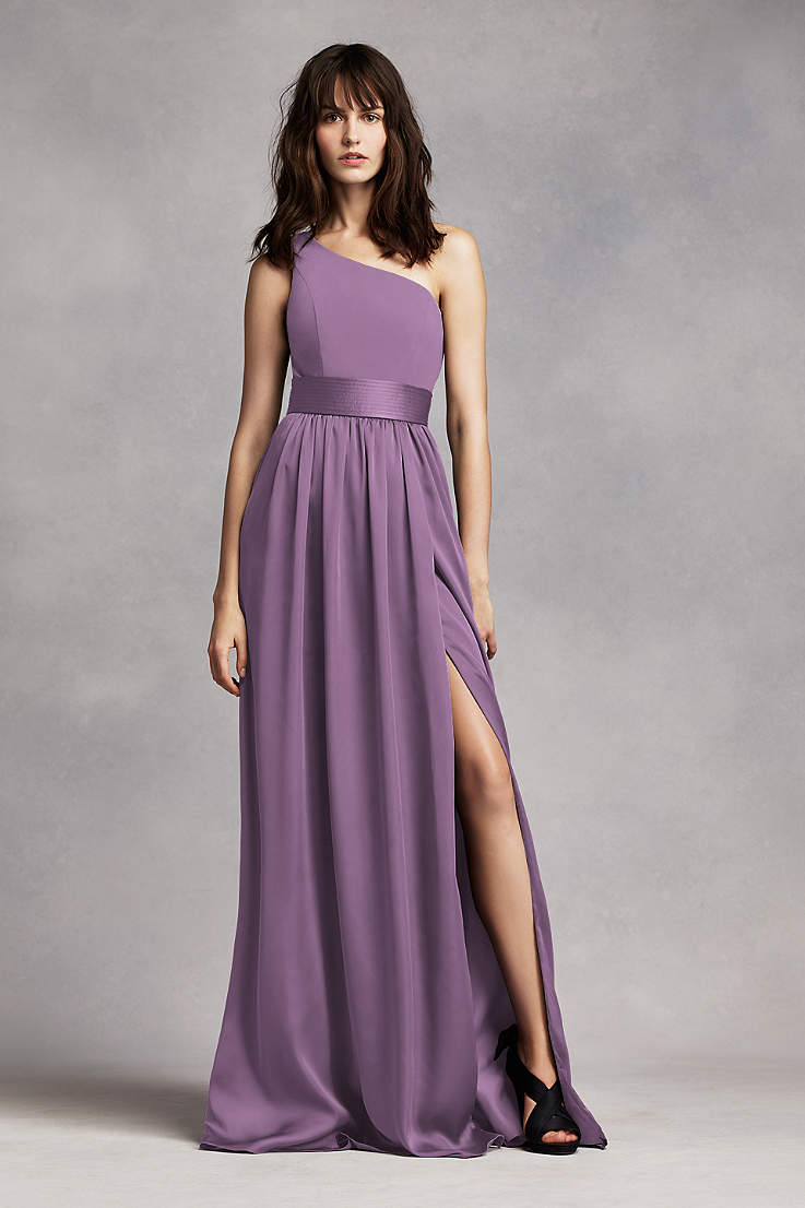 1c3273aa67a Soft & Flowy White by Vera Wang Long Bridesmaid Dress