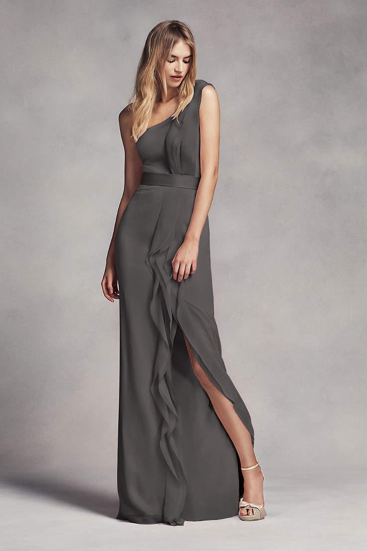 Gray Prom Dress
