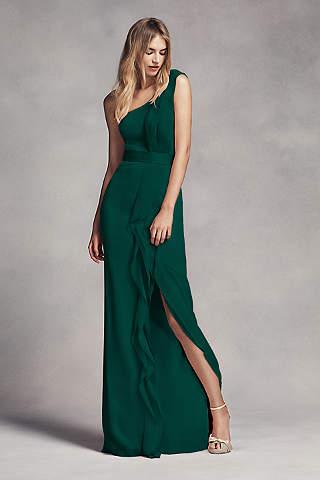 Vestido Largo Para Dama de Un Hombro y Ondas