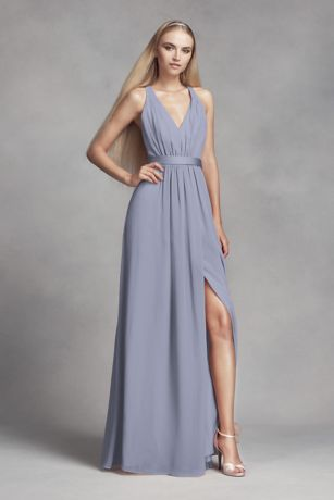 Long Sheath Tank Dress - White by Vera Wang