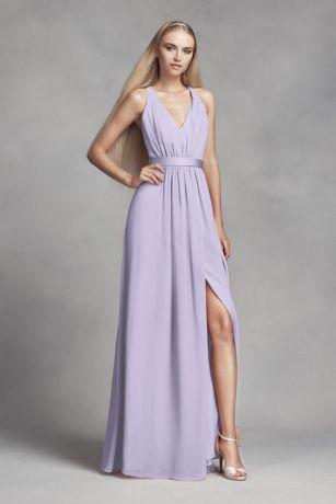 a80a0038952 Soft   Flowy White by Vera Wang Long Bridesmaid Dress