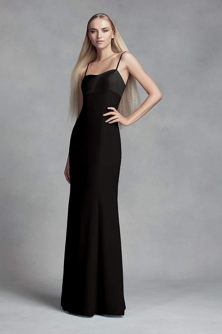 Crepe and Satin Bridesmaid Dress with Cutout Back aa5457455ed2