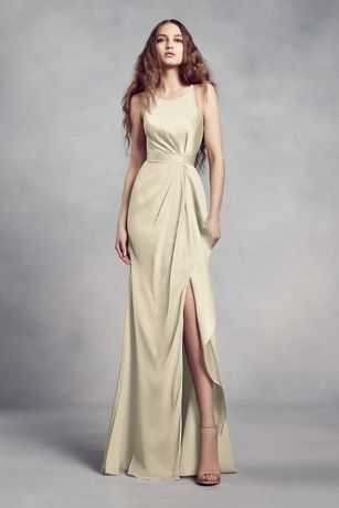 Long Sheath Sleeveless Dress - White by Vera Wang