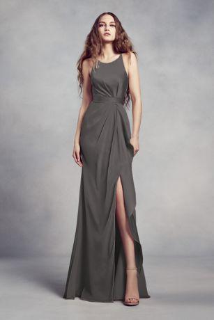 Long Sheath Sleeveless Dress - White by Vera Wang