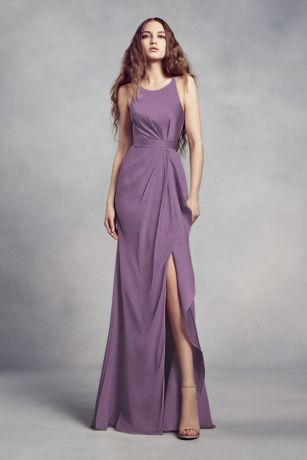b671d3cd4 Soft & Flowy;Structured White by Vera Wang Long Bridesmaid Dress