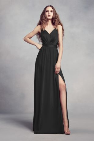 Long Sheath Spaghetti Strap Dress -