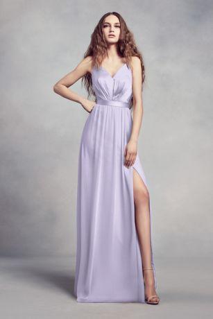 Long Sheath Spaghetti Strap Dress - White by Vera Wang