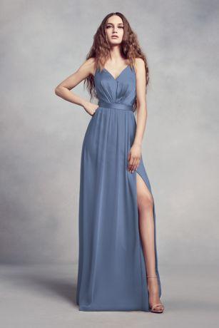 Steel Blue Bridesmaid Dresses Davids Bridal