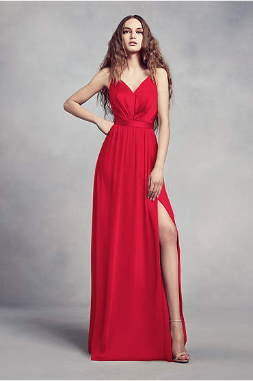 Charmeuse and Chiffon Bridesmaid Dress