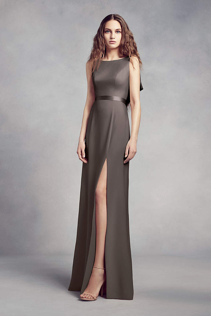 4280229dc41 Soft   Flowy Structured White by Vera Wang Long Bridesmaid Dress