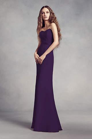 Vestido Para Dama de Chiffon con Encaje en la Espalda