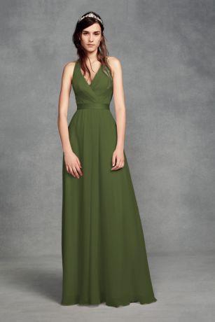 29750ad34301 Soft & Flowy White by Vera Wang Long Bridesmaid Dress