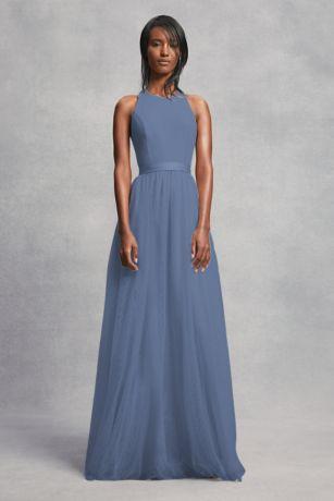 b5932ffc0fa Soft   Flowy Structured White by Vera Wang Long Bridesmaid Dress
