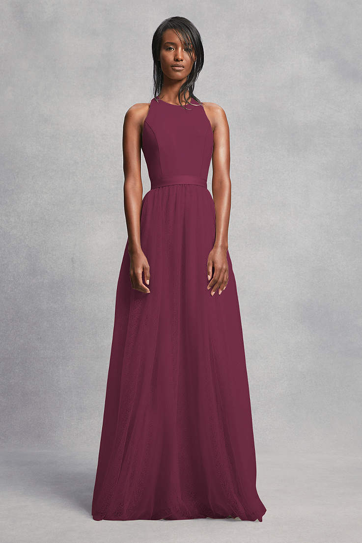 1e7fea5b9c9c7 Wine Bridesmaid Dresses - Merlot, Maroon, Bordeaux Gowns | David's ...