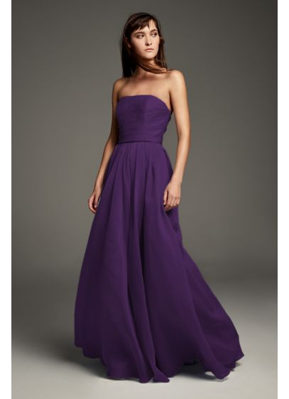 6dbc81434fbf Textured Organza A-Line Bridesmaid Dress