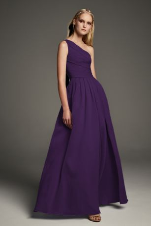Organza Ruched Band and a Satin Bridesmaid Dress