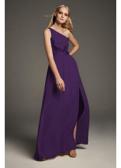 8d55f307b84 One-Shoulder Charmeuse Chiffon Bridesmaid Dress | David's Bridal