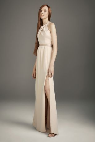 White by Vera Wang Long Bridesmaid Dress