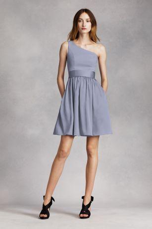 Soft & Flowy White by Vera Wang Short Bridesmaid Dress