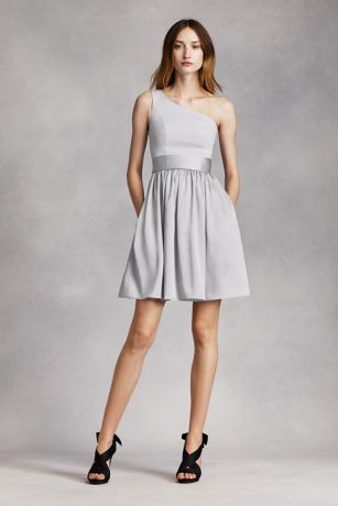 Soft & Flowy White by Vera Wang Short Bridesmaid Dress