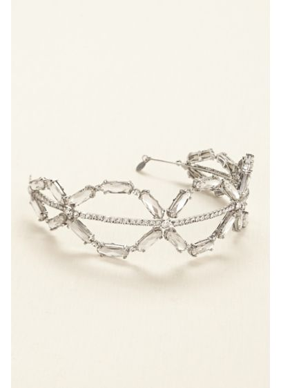 White by Vera Wang Grey (Oval Crystal Headband)