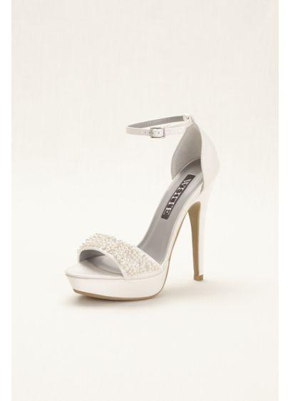 Vera Wang Satin T-Strap Sandals Manchester sale online buy cheap order KDIUSaLq