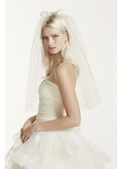 White by Vera Wang Ivory (Mid Length Bow Veil)