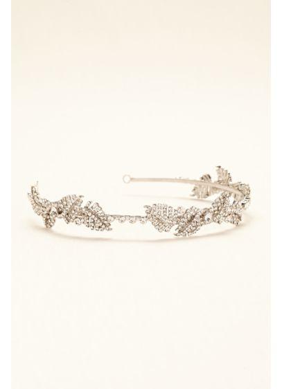 White by Vera Wang Grey (Pave Leaf Embellished Headband)