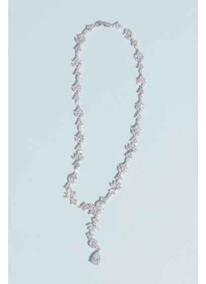 White by Vera Wang Grey (White by Vera Wang Crystal Cluster Lariat Necklace)