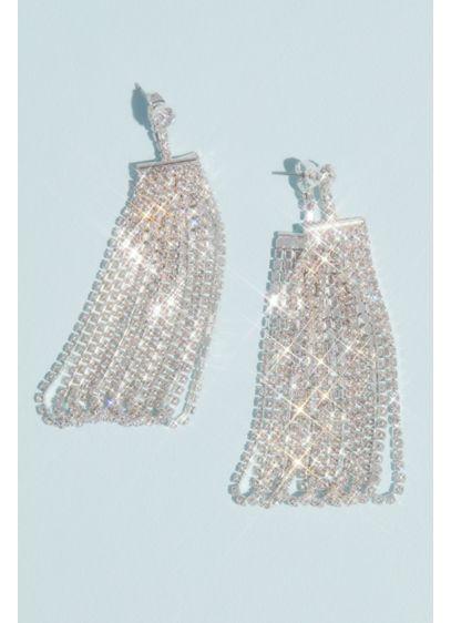 White by Vera Wang Drop Fringe Loop Earrings - Wedding Accessories