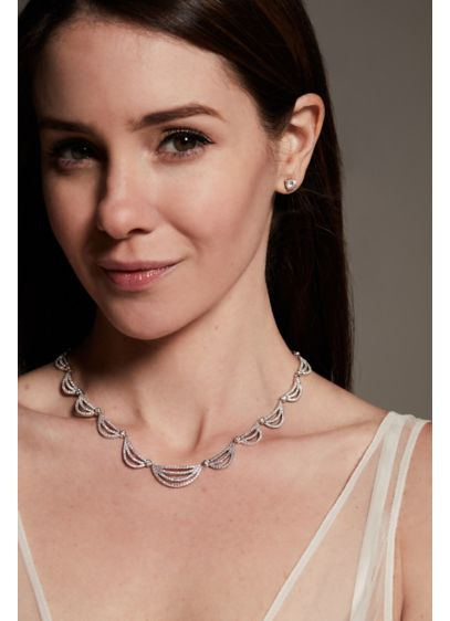 White by Vera Wang Crystal Scallop Jewelry Set - Wedding Accessories