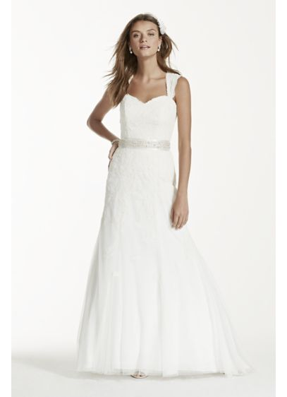 f60efbbc482 Long Sheath Formal Wedding Dress - David s Bridal Collection