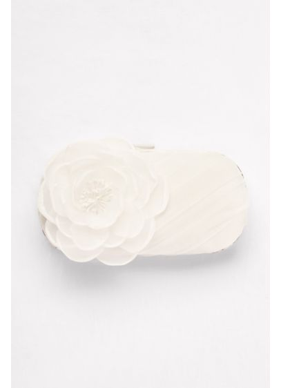 White by Vera Wang Ivory (White by Vera Wang Tulle Clutch with Flower)