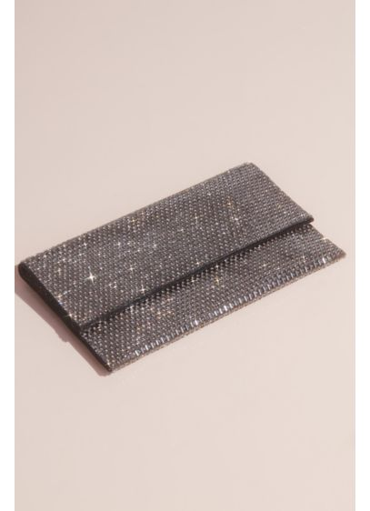 Crystal Foldover Clutch - Add an edgy touch to your look with