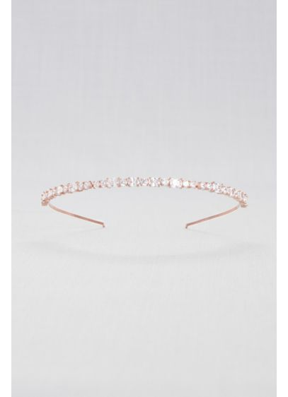 Geometric Cubic Zirconia Thin Headband - Horizontally set cubic zirconia gems lend fine-jewelry sparkle