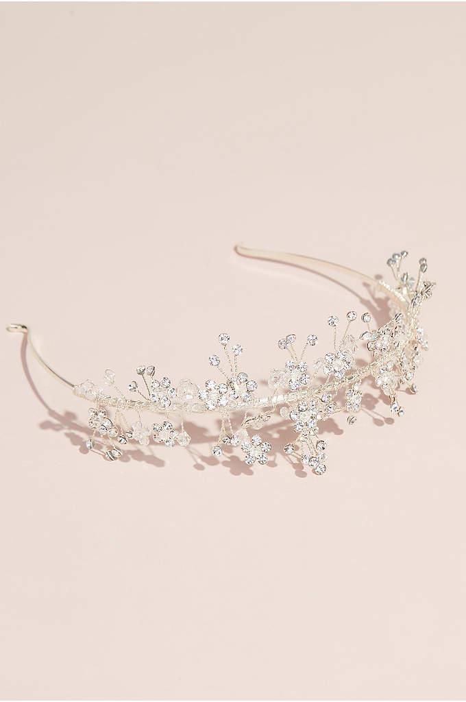 Tiny Crystal Flower Wired Headband