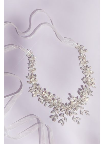 Pearl and Marquise-Cut Crystal Leaves Headpiece - Wedding Accessories